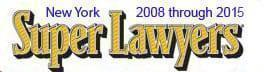 Super Lawyers | New York | 2008 through 2015